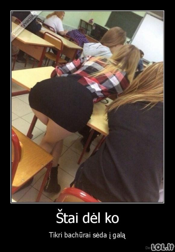 Kodėl vaikinai sėda į klasės galą?