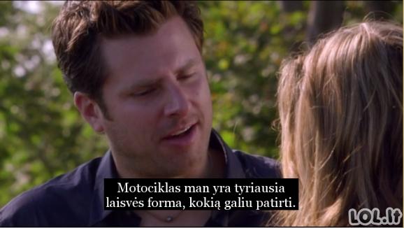 Romantiškiausias dalykas, kurį galėtų pasakyti motociklų entuziastas