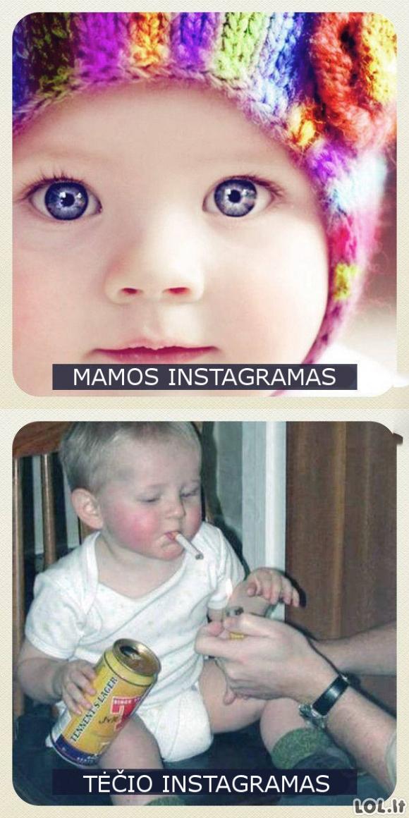 Mamos ir tėčio Instagramai