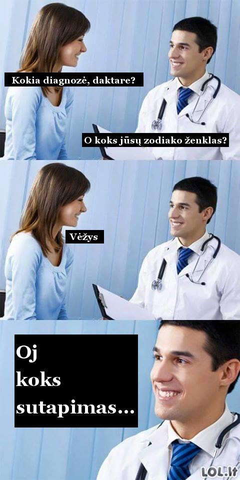 Nemalonūs sutapimai pas daktarą