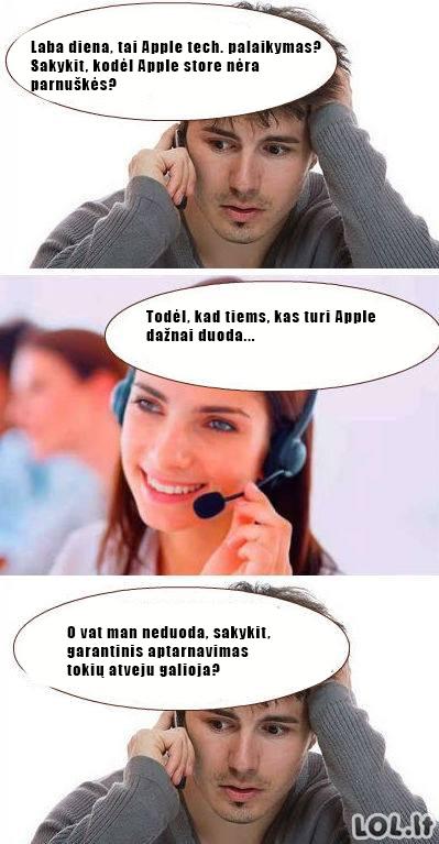 Apple garantinis aptarnavimas