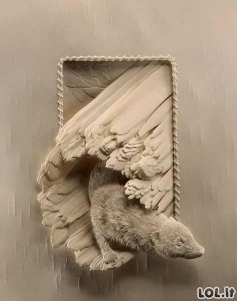 Neįtikėtini darbai iš popieriaus
