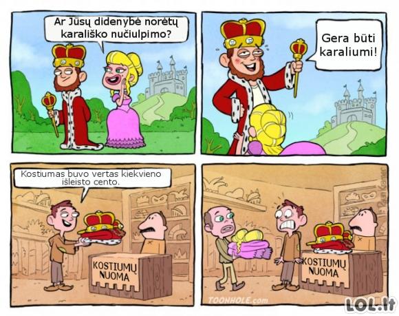 Karališko gyvenimo minusai