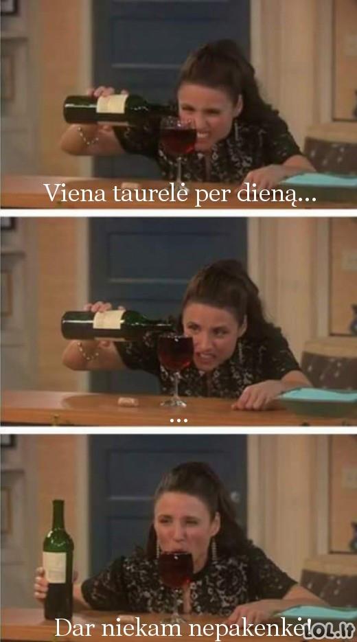 Saikingas vyno vartojimas