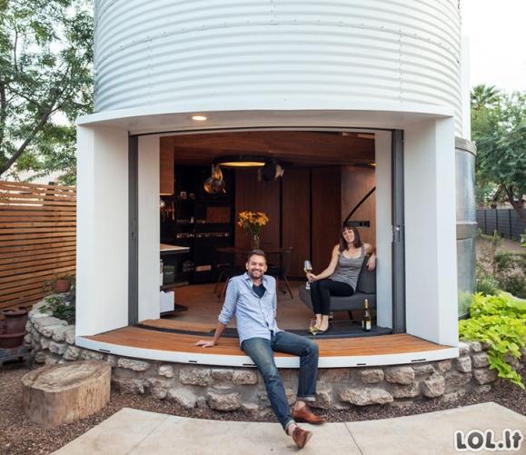 Architektas seną siloso bokštą pavertė tikrais apartamentais