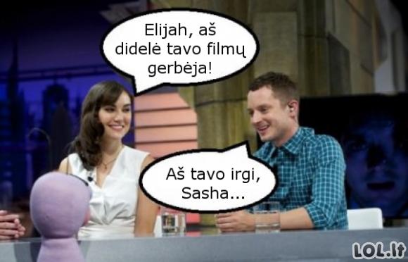 Elijah Wood ir Sasha Grey susitikimas