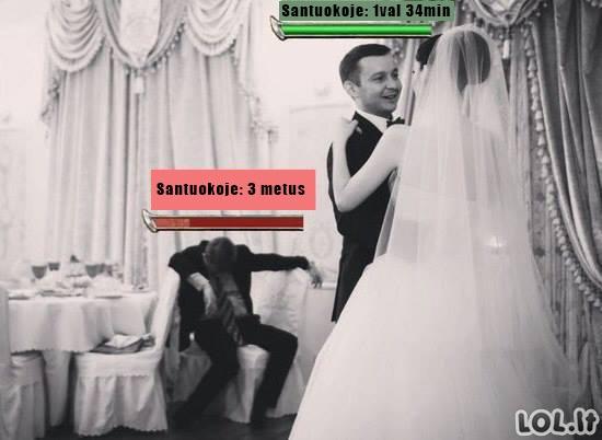 Vyro HP pagal santuokos trukmę