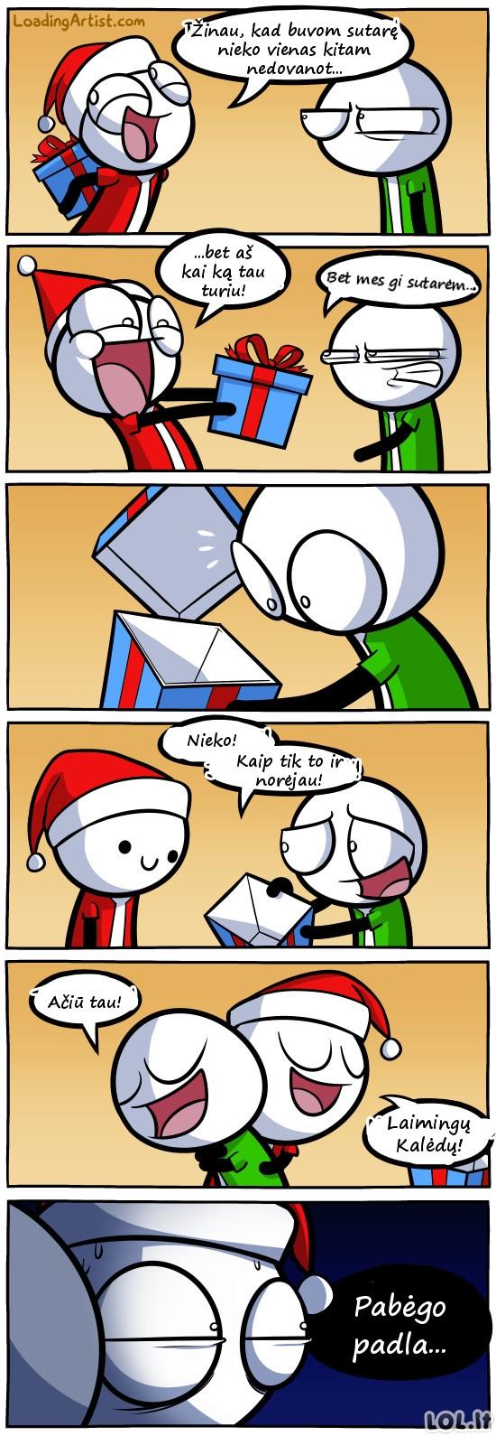 Draugas, nuolat laužantis pažadus dėl dovanos