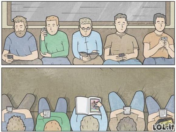 Vis dar yra žmonių, kurie skaito knygas