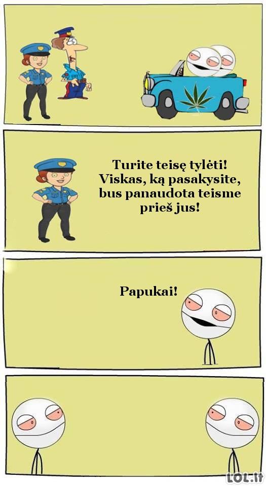 Kai tave sulaiko pareigūnai