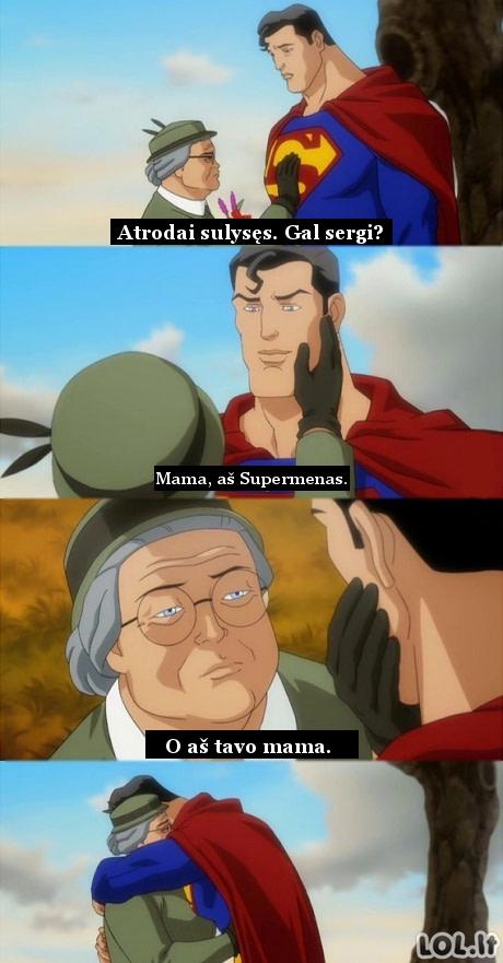 Supermenas ir jo mama