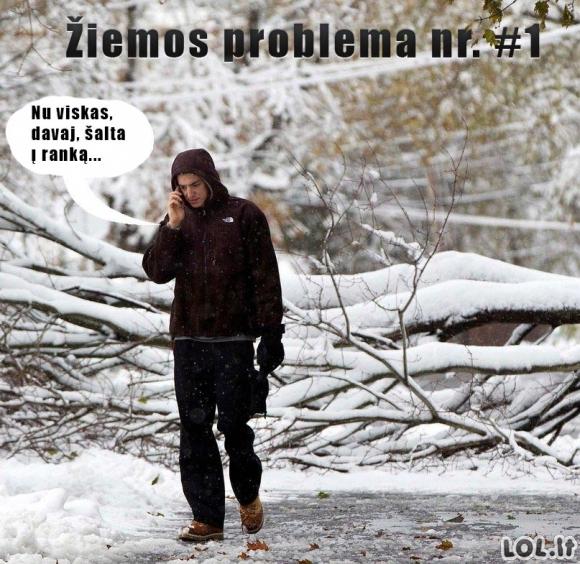 Pagrindinė žiemos problema