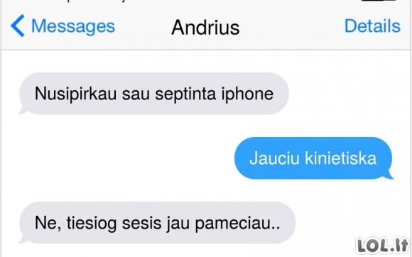 Naujausio iPhone pirkimas
