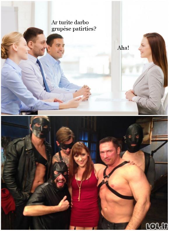 Grupinio darbo patirtis