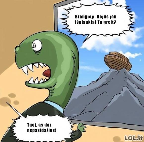 Taip mirė dinozaurai