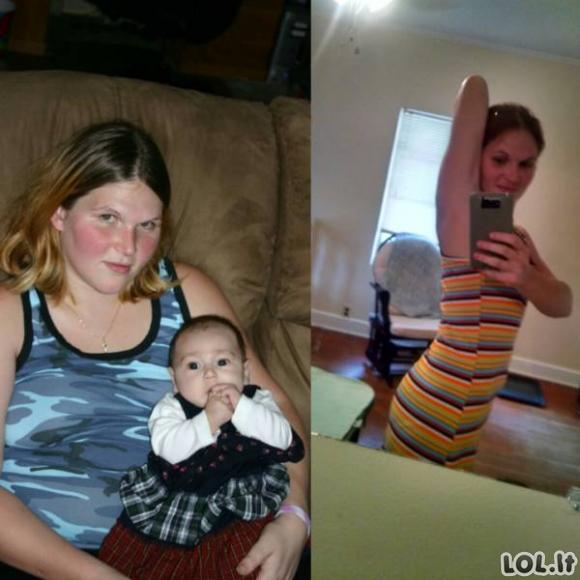 Užkrečiantys svorio metimo pavyzdžiai