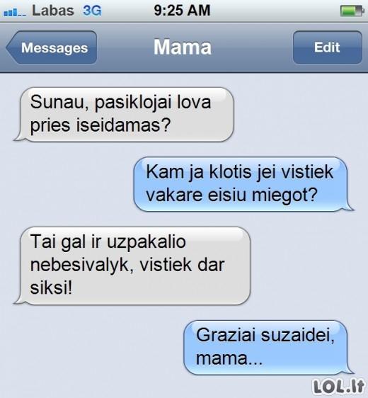 Mamos pamoka