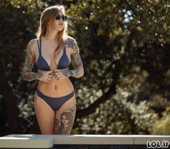 Karštus kūnus puošiančios tatuiruotės