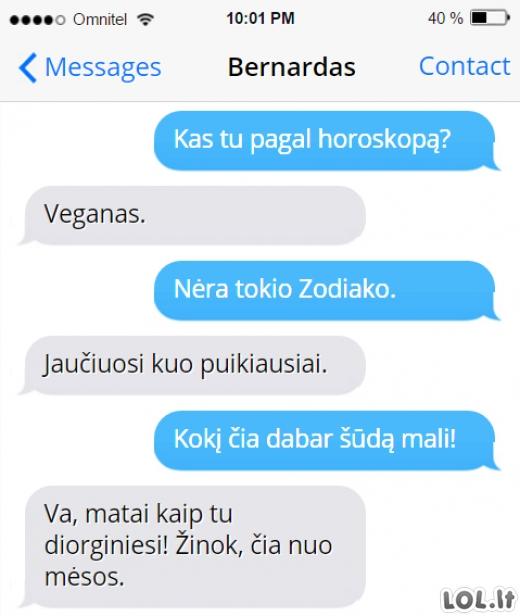 Tipinis pokalbis su veganu