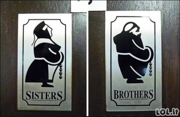 Originaliausi tualetų ženklai