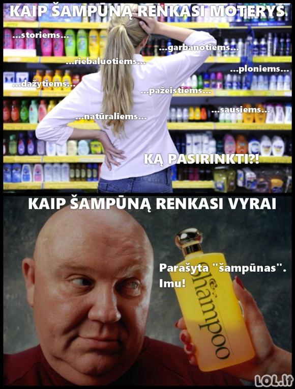 Kaip išsirinkti šampūną
