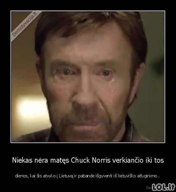 Pirmosios Chuck Norris ašaros