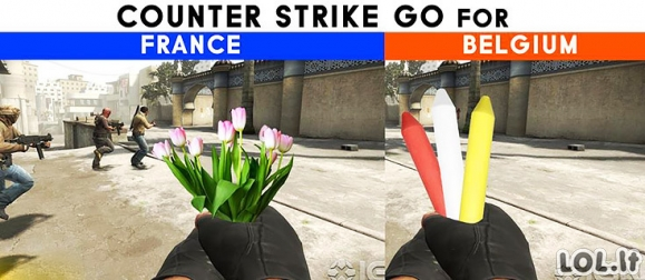 Jei CS:GO būtų Belgijos ir Prancūzijos ginklai