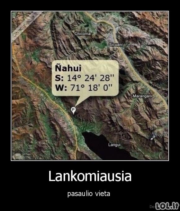 Lankomiausia vieta