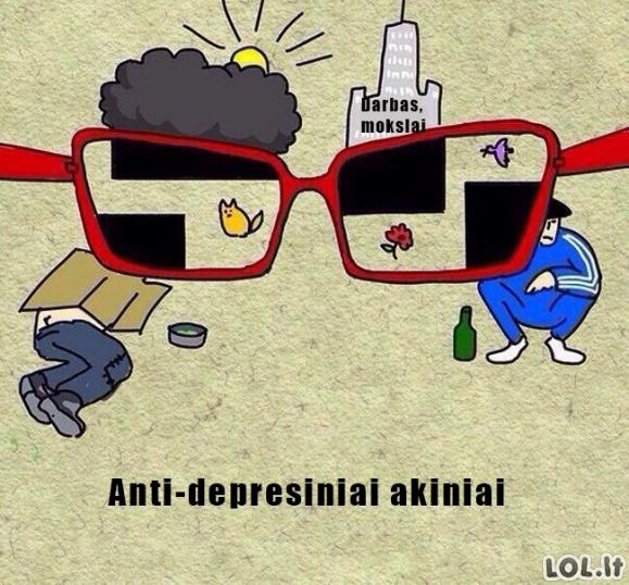 Akiniai nuo depresijos
