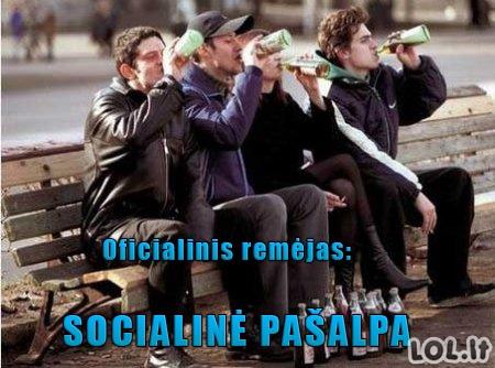 Alkoholikų oficialinis remėjas