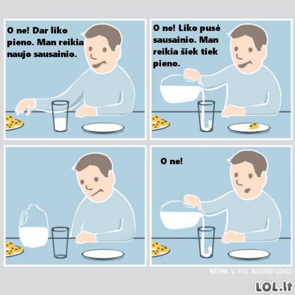 Kai ką nors skaniai valgai