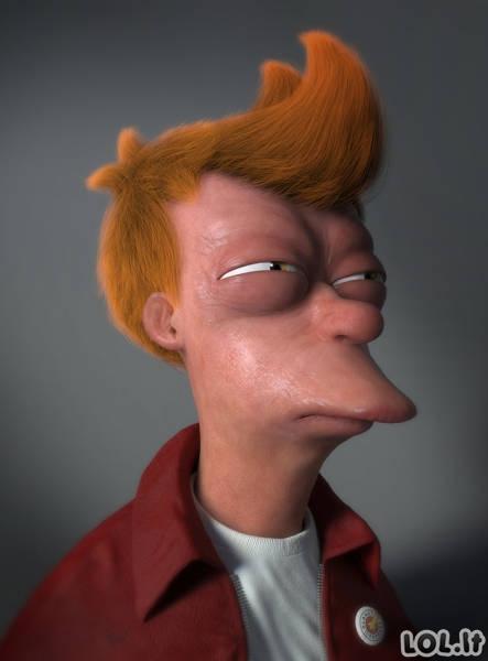 Jei animacinių filmų veikėjai būtų realistiškesni