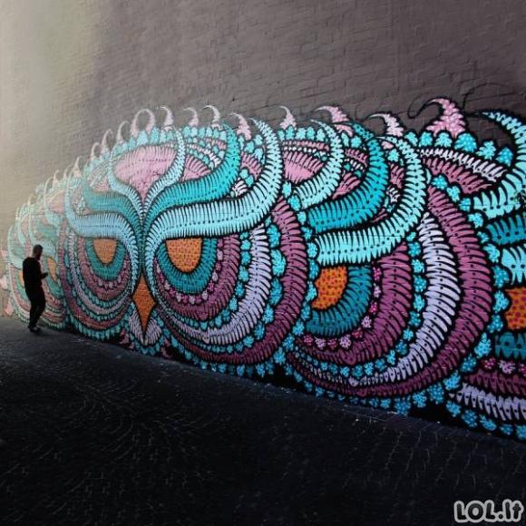 Neįtikėtinas gatvės menas