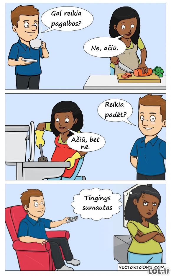 Kaip moterys mato vyrus