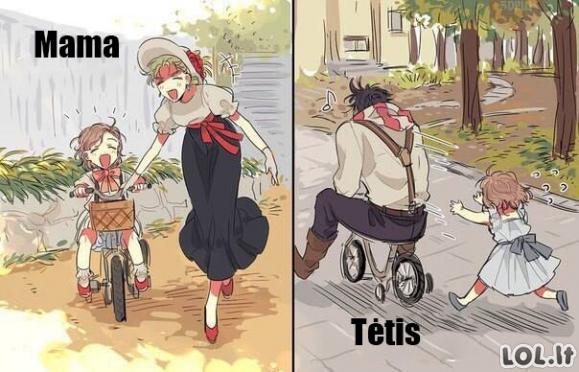 Mama vs tėtis