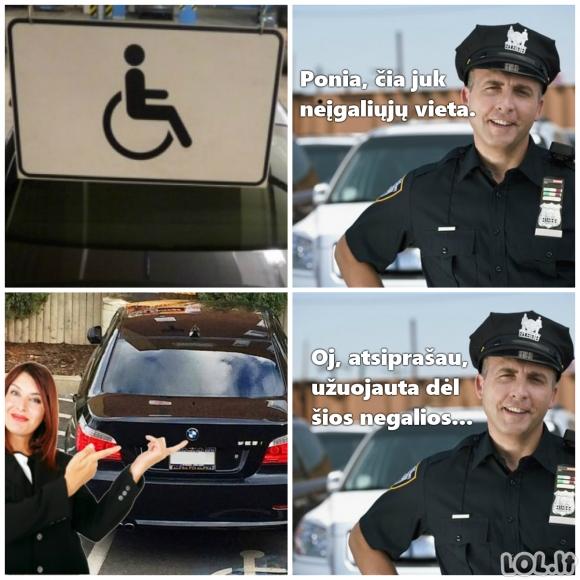 Leidimas parkuotis neįgaliųjų vietose