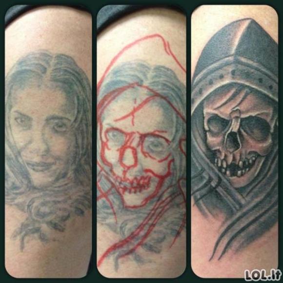 Kaip iš šūdinos tatuiruotės padaryti meno kūrinį
