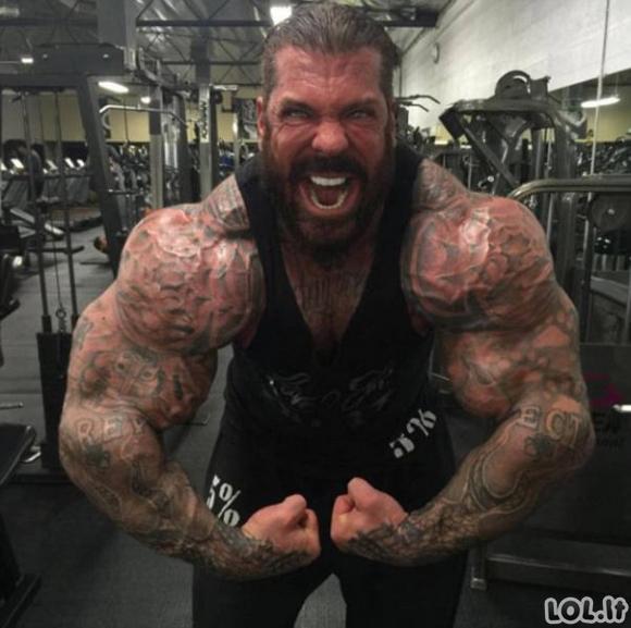 Milžinas vartoja steroidus nuo paauglystės