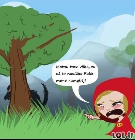 Raudonkepuraitė - persekiotoja