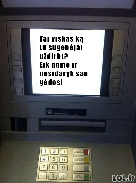 Piktas bankomatas