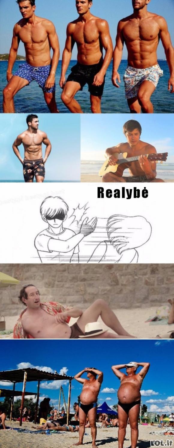 Vyrai pliaže