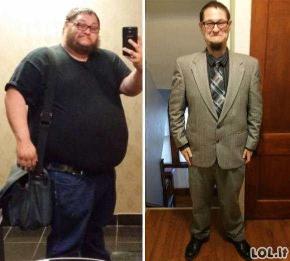 Įkvepiantys svorio metimo pavyzdžiai
