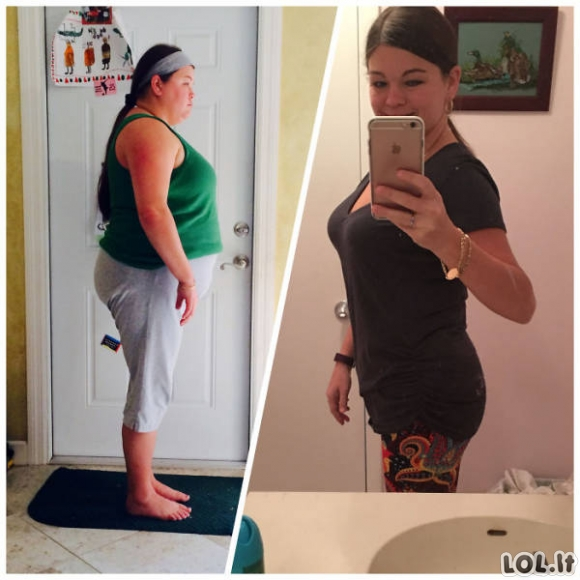 Sėkmingi svorio metimo pavyzdžiai