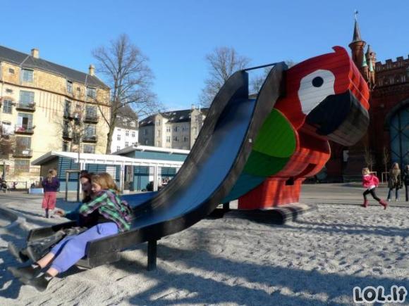 Smagiausios vaikų žaidimo aikštelės