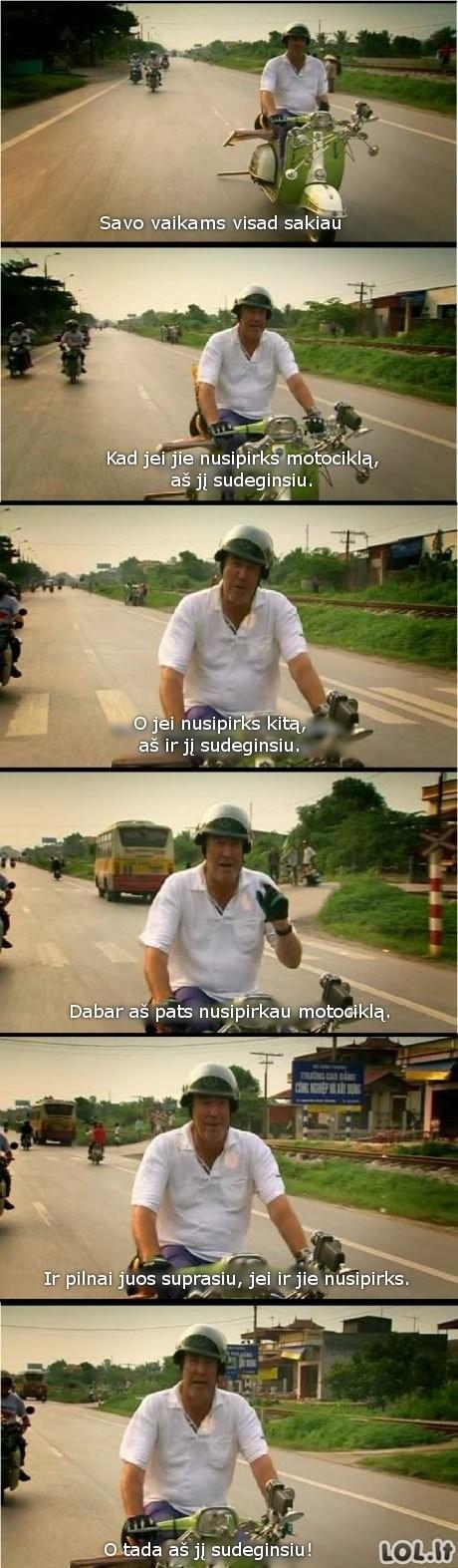 Tėvų požiūris į motociklus