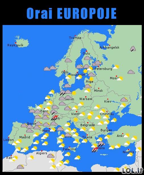 Orai Europoje