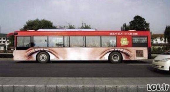 Originaliausios reklamos ant autobusų