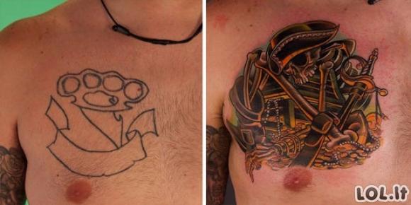 Kai iš baisių tattoo padaromi tikri šedevrai