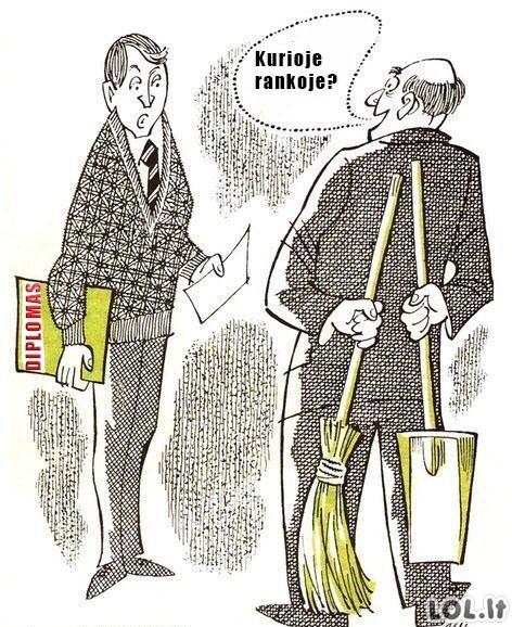 Mūsų darbo rinka