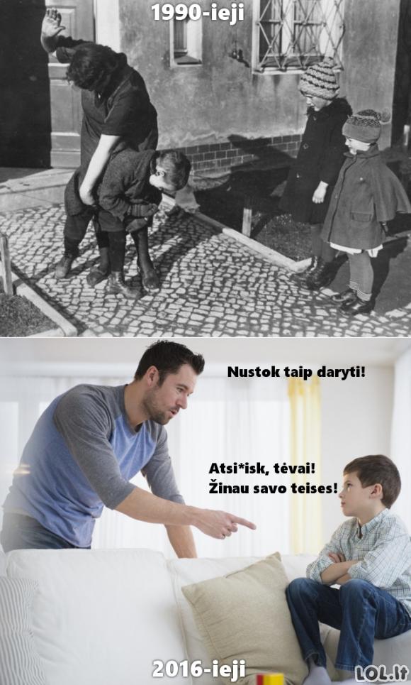 Vaikų bausmės anksčiau ir dabar